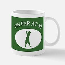 Golfer's 40th Birthday Mug
