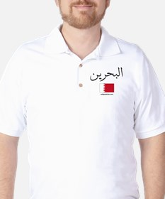 Bahrain Flag Arabic Golf Shirt