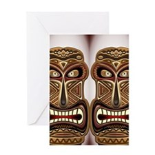 Africa Ethnic Mask Totem Greeting Card