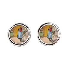 Churning Butter (square) Cufflinks