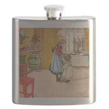 Churning Butter (square) Flask