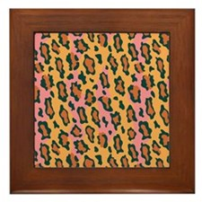 Leopard Pattern Framed Tile