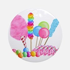 Candy Circus Round Ornament