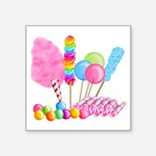 "Candy Circus Square Sticker 3"" x 3"""