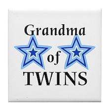 Grandma of Twins (Boys) Tile Coaster