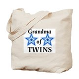 Grandma of twins Canvas Bags