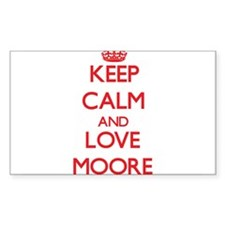 Keep calm and love Moore Decal