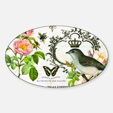 Vintage French shabby chic bird wit Decal