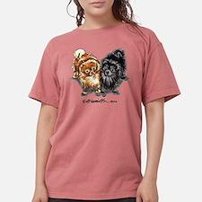 Black Red Pomeranian T-Shirt