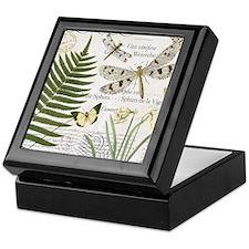 Vintage French dragonflies Keepsake Box