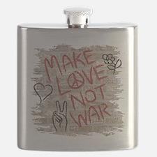 Make Love Not War Flask