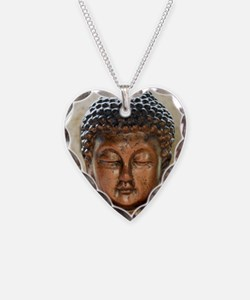 Buddha Blessing Necklace Heart Charm