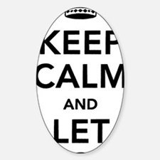 Keep Calm and Let God Sticker (Oval)