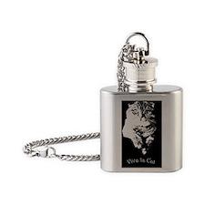 Viva La Cat Flask Necklace