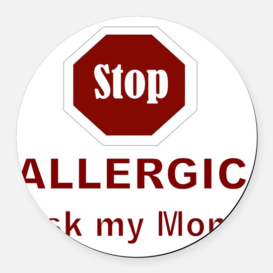 STOP Round Car Magnet