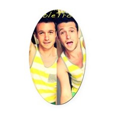 jason double trouble tightest Oval Car Magnet