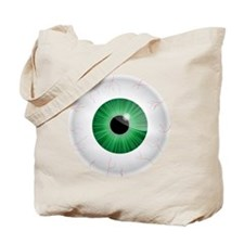 Bloodshot Green Eyeball Tote Bag