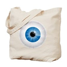 Bloodshot Blue Eyeball Tote Bag
