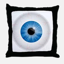 Bloodshot Blue Eyeball Throw Pillow
