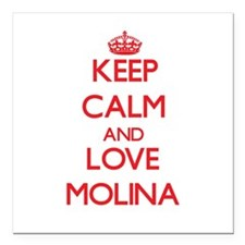 "Keep calm and love Molina Square Car Magnet 3"" x 3"