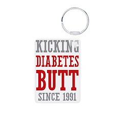 Diabetes Butt Since 1991 Keychains