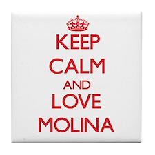 Keep calm and love Molina Tile Coaster
