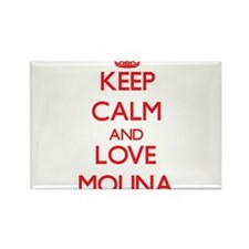 Keep calm and love Molina Magnets