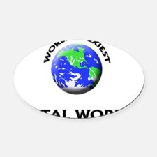 World's Sexiest Postal Worker Oval Car Magnet