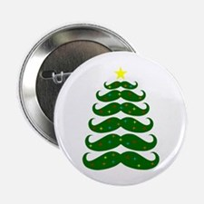 Mustache Christmas Tree 2.25&Amp;Quot; Button (100