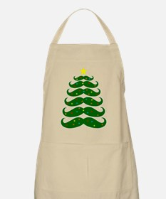 Mustache Christmas Tree Apron
