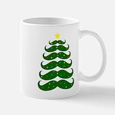 Mustache Christmas Tree Mugs