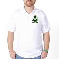Mustache Christmas Tree T-Shirt