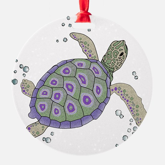 Swimming Sea Turtle Ornament