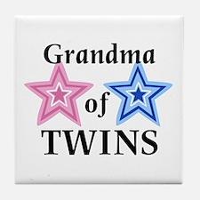 Grandma of Twins (Girl, Boy) Tile Coaster
