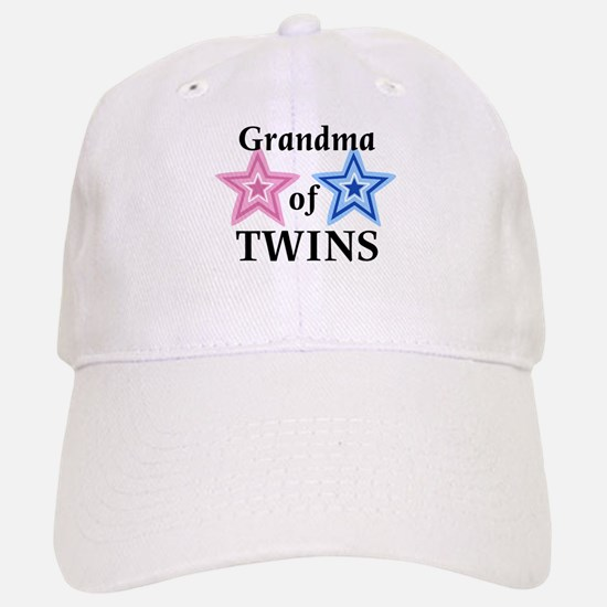 Grandma of Twins (Girl, Boy) Baseball Baseball Cap