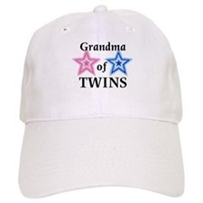 Grandma of Twins (Girl, Boy) Cap