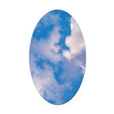 CLOUDS Oval Car Magnet
