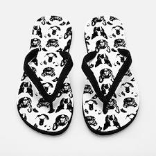 SNORT Collage Flip Flops