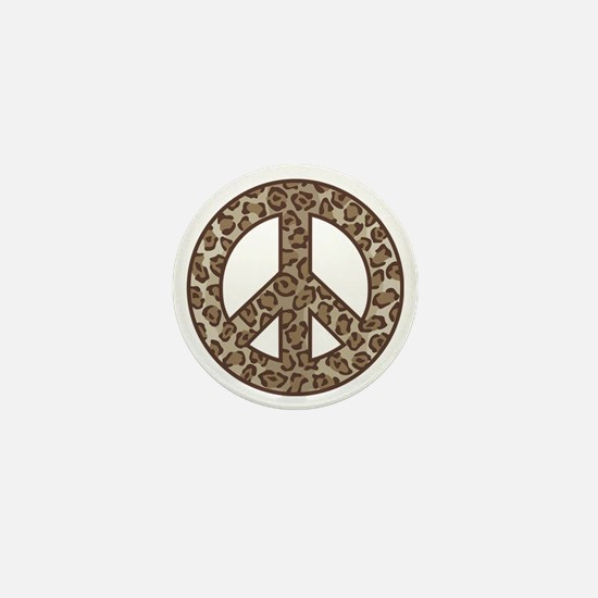 Leopard Peace Symbol Mini Button