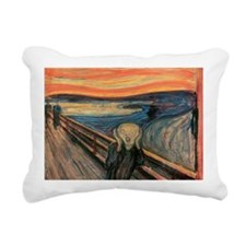 scream curtain Rectangular Canvas Pillow