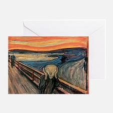 scream curtain Greeting Card