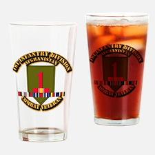 Army - 2nd ID w Afghan Svc Drinking Glass
