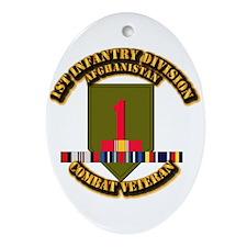 Army - 2nd ID w Afghan Svc Ornament (Oval)