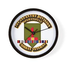 Army - 2nd ID w Afghan Svc Wall Clock