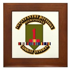 Army - 2nd ID w Afghan Svc Framed Tile