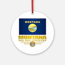 Montana Pride Round Ornament
