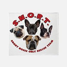 SNORT Logo No Outline Throw Blanket