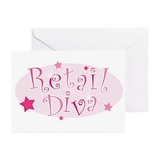 """Retail Diva"" [pink] Greeting Cards (Pk of 10)"