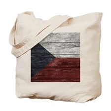 Wood Boards Czech Republic Flag king duve Tote Bag