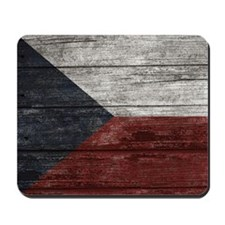 Wood Boards Czech Republic Flag king duv Mousepad